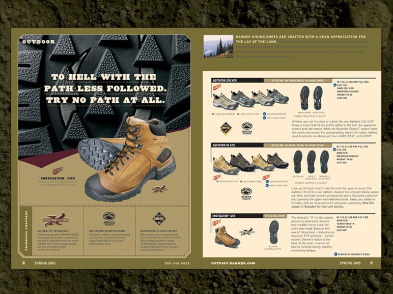 Danner Footwear Catalogs